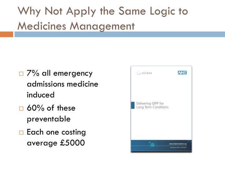 Why Not Apply the Same Logic to Medicines Management