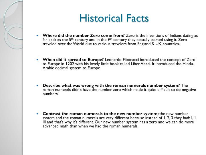 Historical Facts