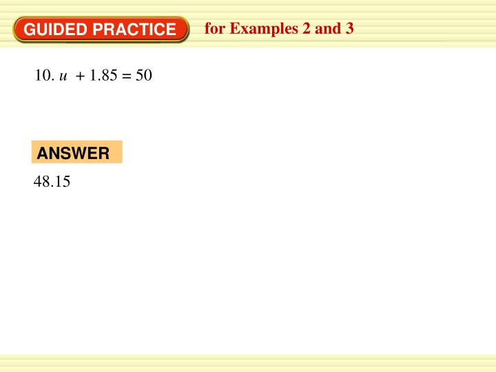 for Examples 2 and 3