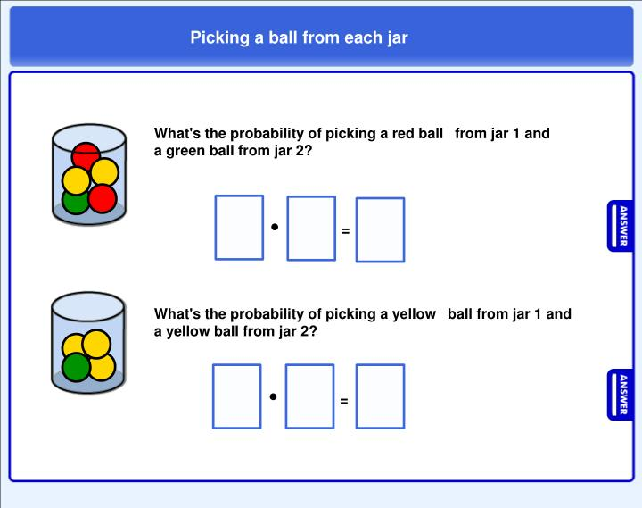 Picking a ball from each jar