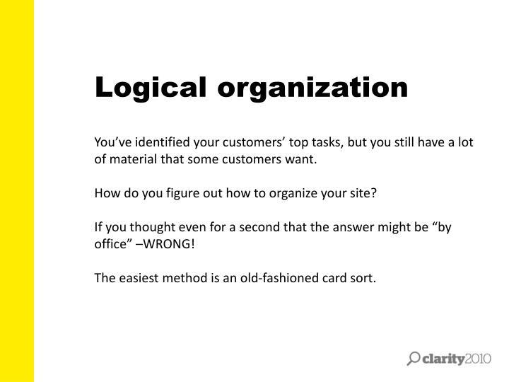 Logical organization