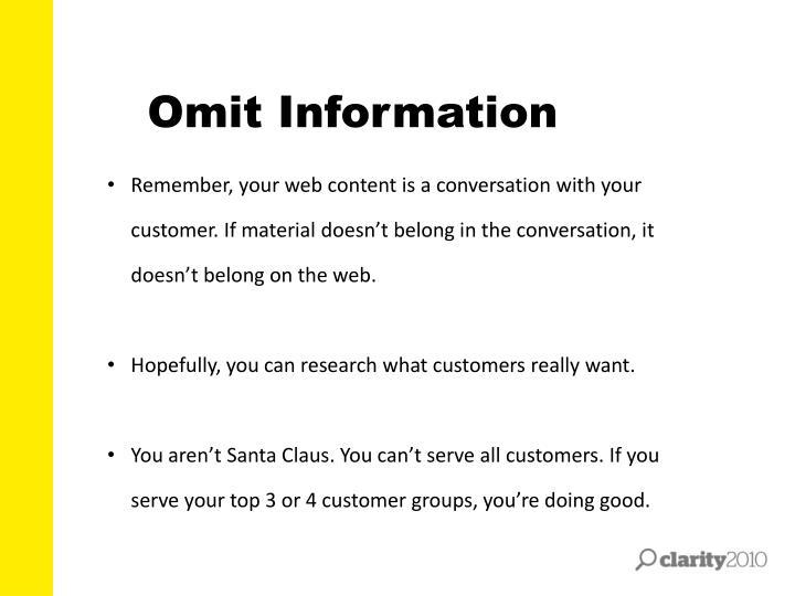 Omit Information