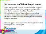 maintenance of effort requirement