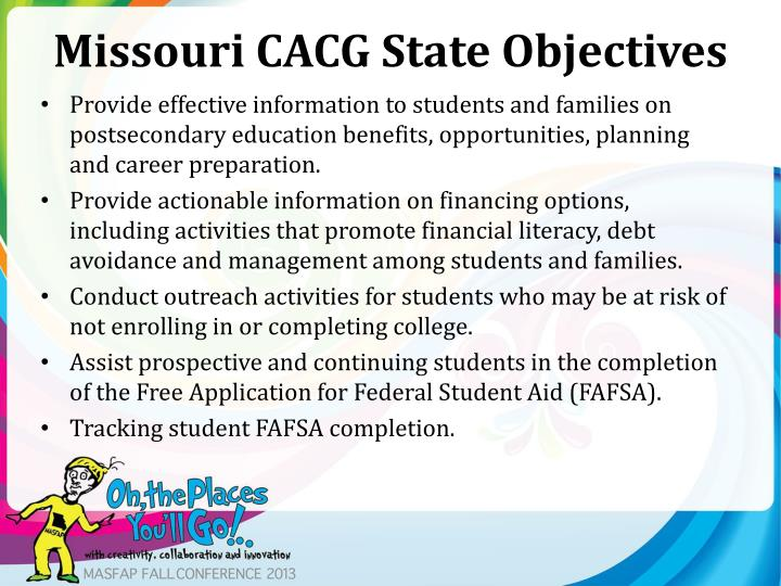 Missouri CACG State Objectives