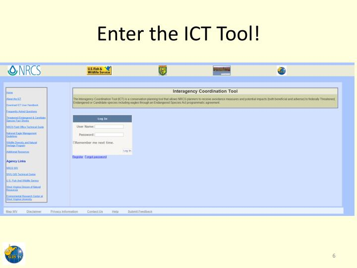 Enter the ICT Tool!