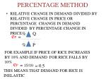 percentage method