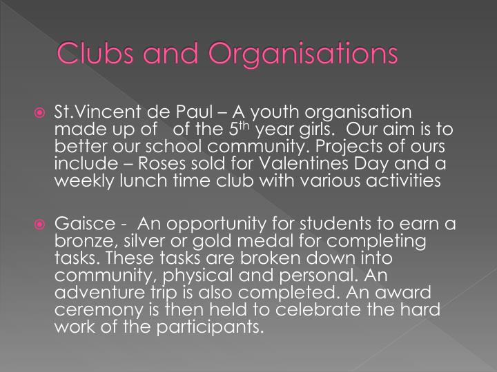 Clubs and Organisations