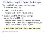 explicit vs implicit costs an example