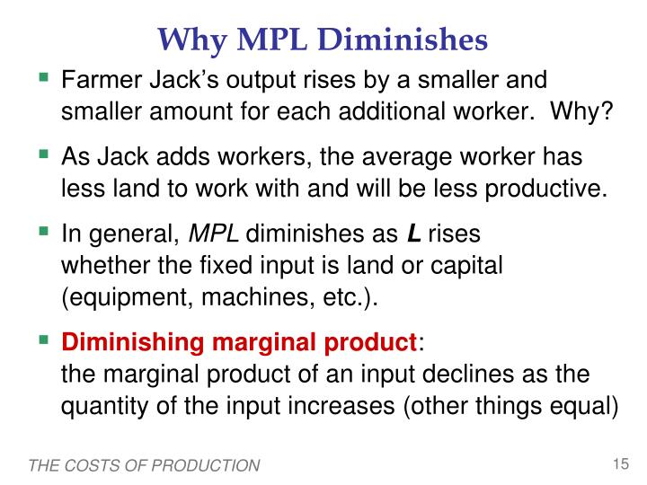 Why MPL Diminishes