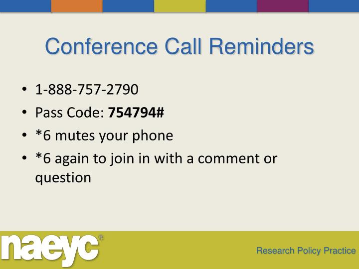 Conference Call Reminders