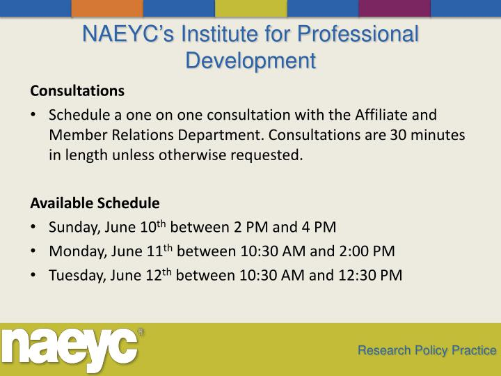 NAEYC's Institute for Professional Development