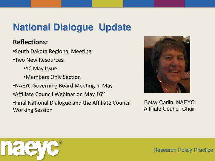 National Dialogue  Update