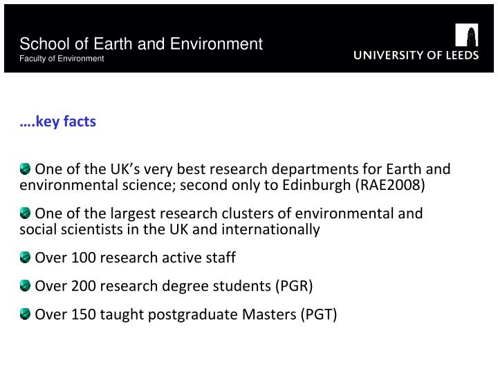 School of Earth and Environment