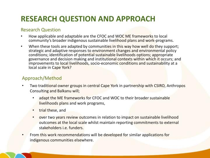 Research Question and Approach