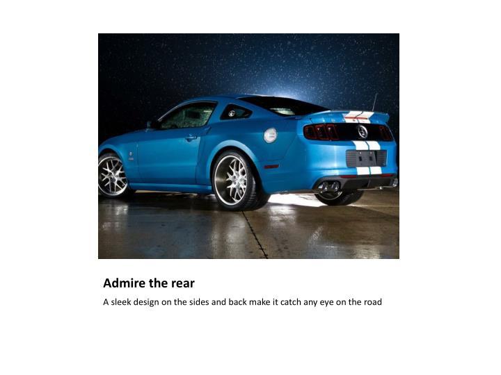 Admire the rear