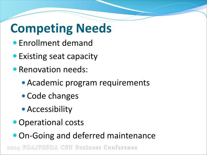 Competing Needs