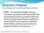 governor s proposal cross pledge with systemwide revenue bond