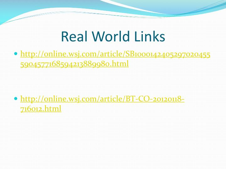 Real World Links