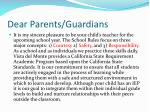 dear parents guardians