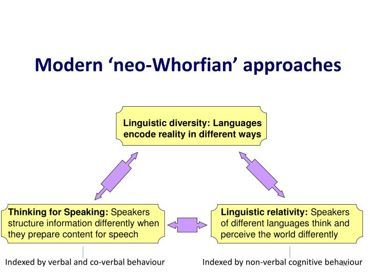 Modern 'neo-Whorfian' approaches