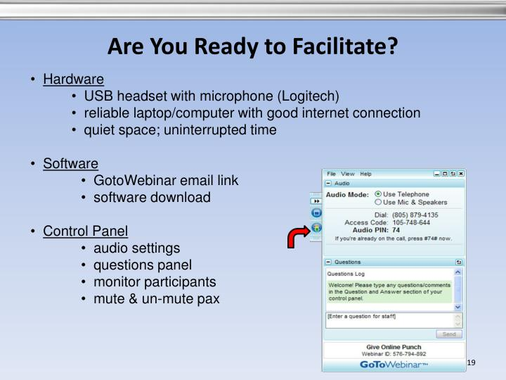 Are You Ready to Facilitate?