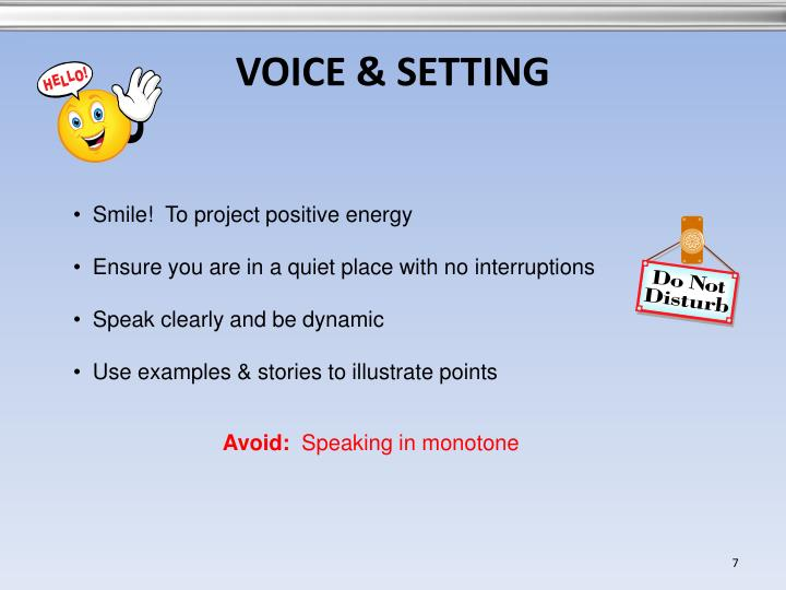 VOICE & SETTING