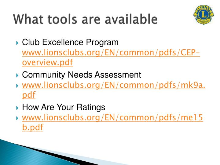 What tools are available