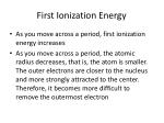 first ionization energy1