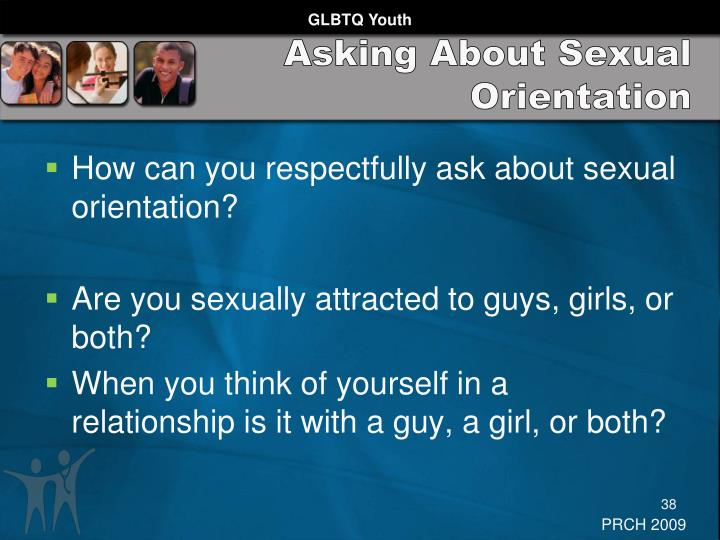 Asking About Sexual Orientation
