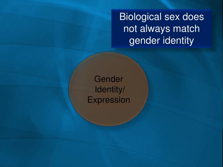 Biological sex does not always match gender identity