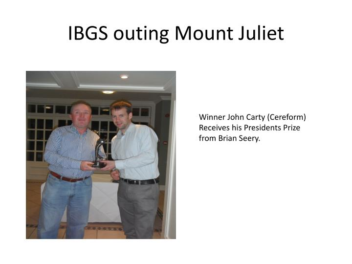Ibgs outing mount juliet1