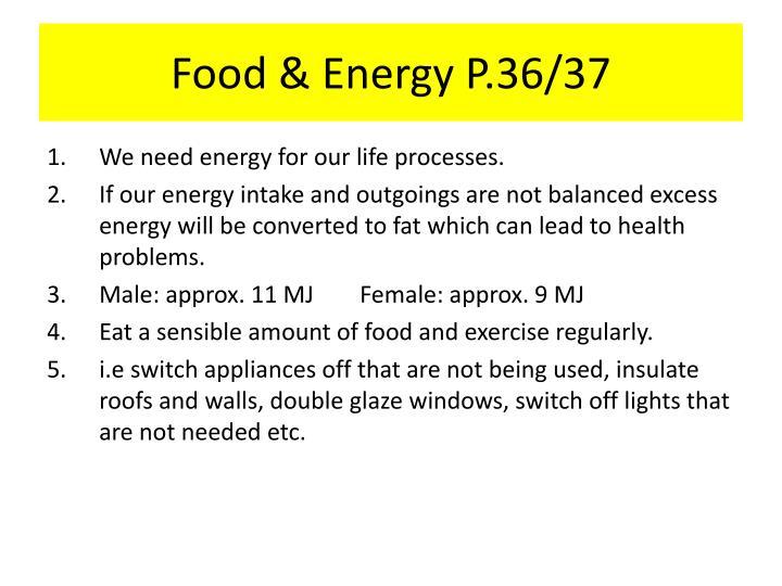 Food & Energy P.36/37