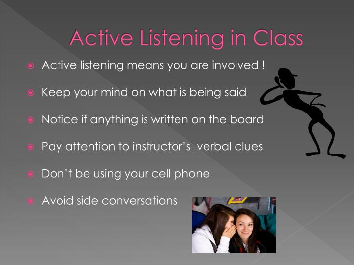 Active Listening in Class