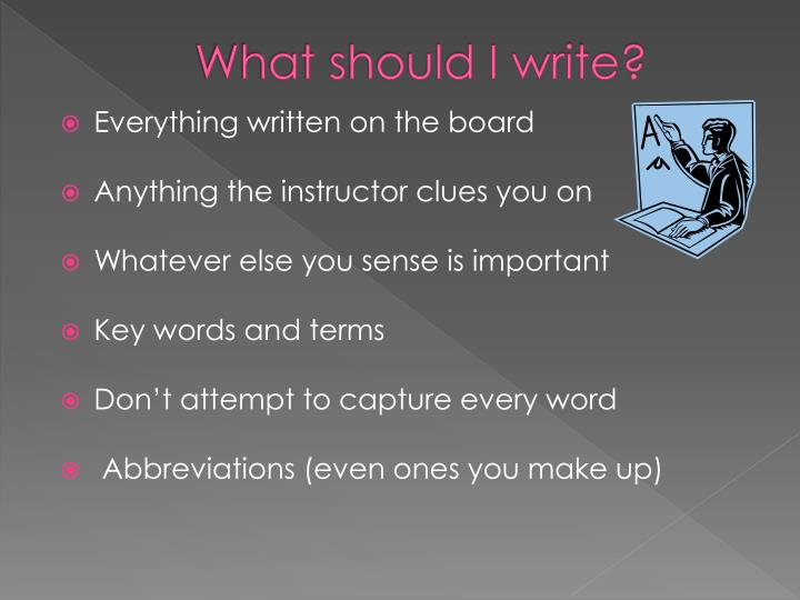 What should I write?