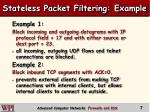 stateless packet filtering example