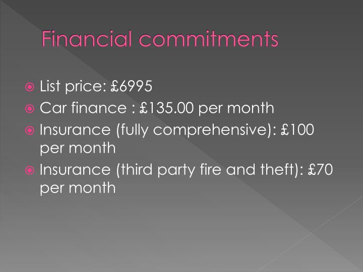 Financial commitments