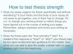 how to test thesis strength2