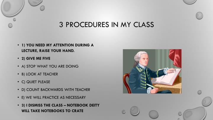 3 procedures in my class
