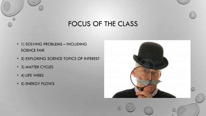 Focus of the class