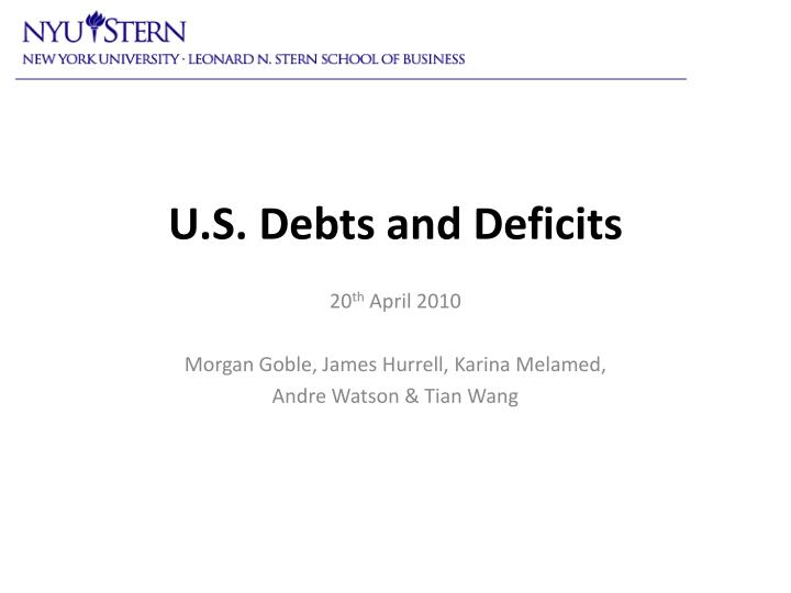 u s debts and deficits