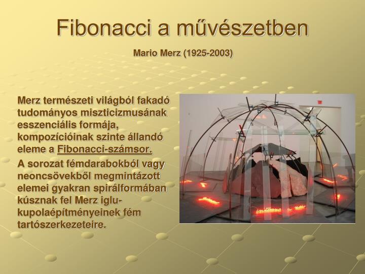Fibonacci a művészetben