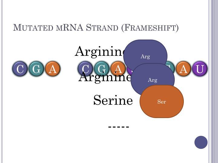 Mutated mRNA Strand (