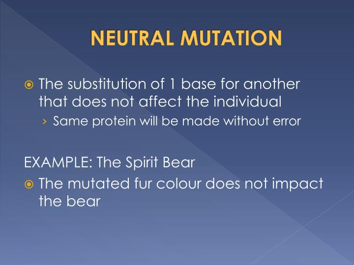 NEUTRAL MUTATION