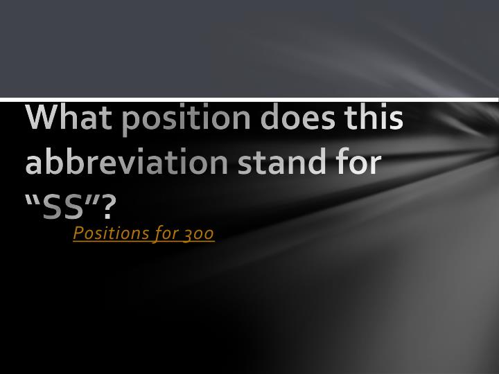 What position