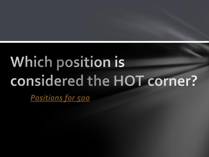 Which position is