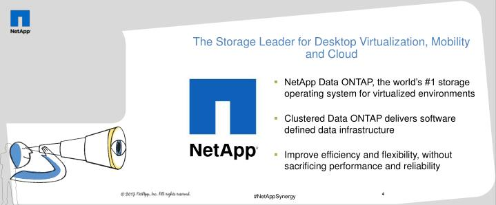 The Storage Leader for Desktop Virtualization, Mobility and Cloud