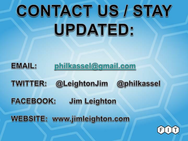 CONTACT US / STAY UPDATED: