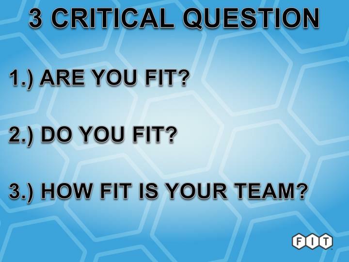 3 CRITICAL QUESTION