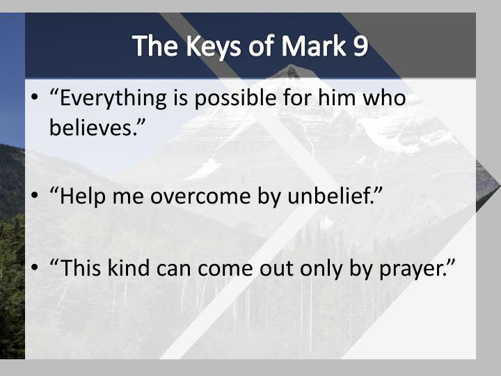 The Keys of Mark 9