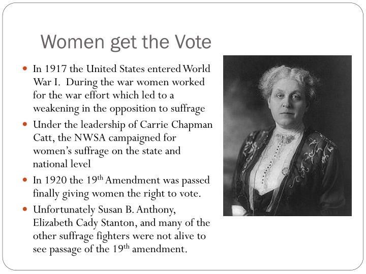 Women get the Vote